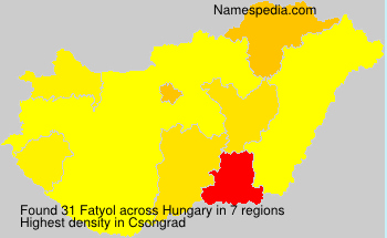 Surname Fatyol in Hungary