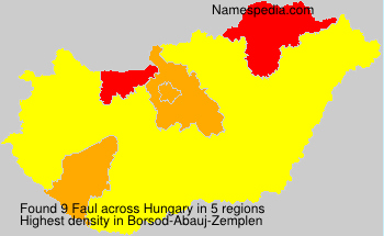 Surname Faul in Hungary