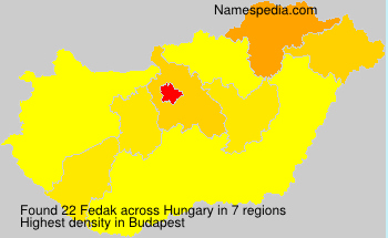 Surname Fedak in Hungary
