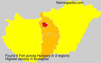 Surname Feit in Hungary