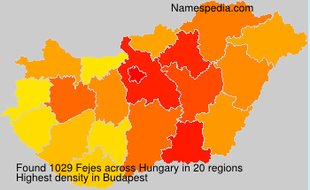 Surname Fejes in Hungary