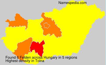 Surname Felden in Hungary