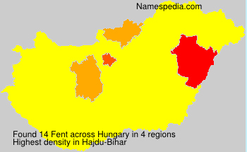 Surname Fent in Hungary