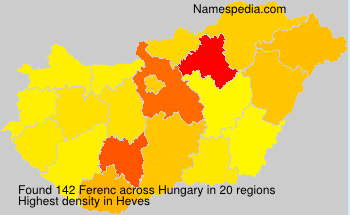 Surname Ferenc in Hungary