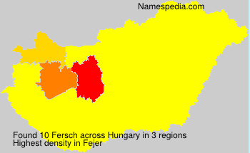 Surname Fersch in Hungary