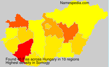 Surname Fias in Hungary
