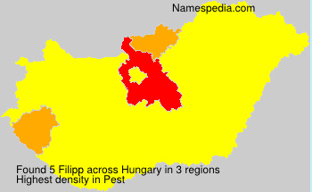 Familiennamen Filipp - Hungary