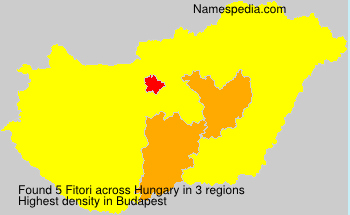 Surname Fitori in Hungary