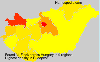 Surname Fleck in Hungary