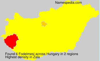 Surname Fodelmesi in Hungary