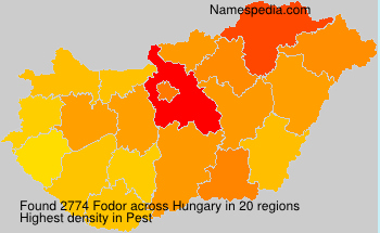 Surname Fodor in Hungary