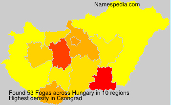 Surname Fogas in Hungary