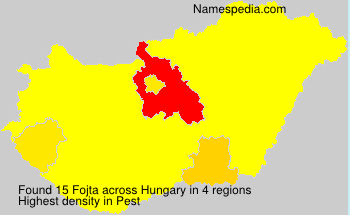 Surname Fojta in Hungary