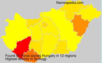 Surname Fonai in Hungary
