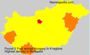 Surname Foor in Hungary