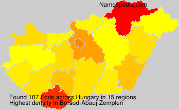 Surname Foris in Hungary