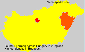 Surname Forman in Hungary