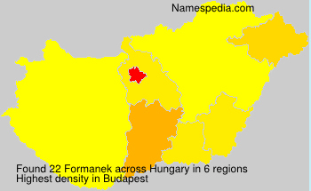 Surname Formanek in Hungary