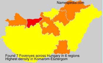 Surname Fovenyes in Hungary