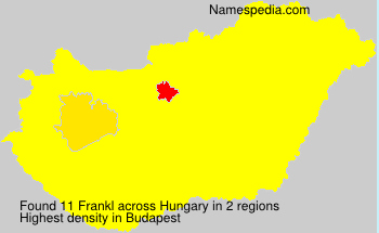 Surname Frankl in Hungary