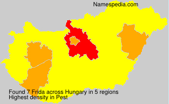 Surname Frida in Hungary