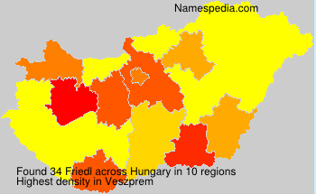 Surname Friedl in Hungary