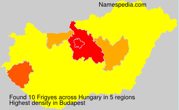 Surname Frigyes in Hungary