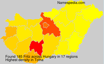 Surname Fritz in Hungary