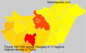 Familiennamen Fritz - Hungary
