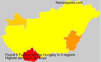 Familiennamen Fuderer - Hungary