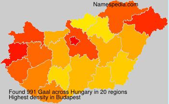 Familiennamen Gaal - Hungary