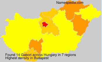 Surname Gabori in Hungary