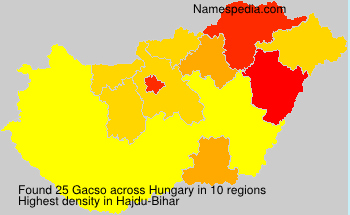 Surname Gacso in Hungary