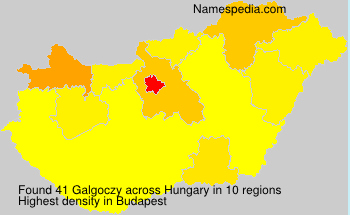 Surname Galgoczy in Hungary