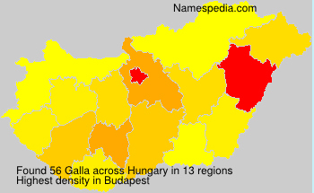 Surname Galla in Hungary