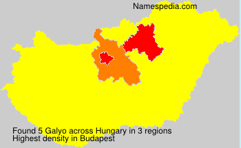 Surname Galyo in Hungary