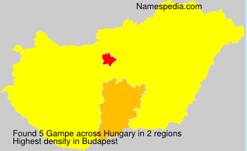 Surname Gampe in Hungary