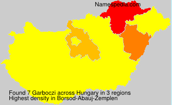 Surname Garboczi in Hungary
