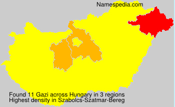 Surname Gazi in Hungary