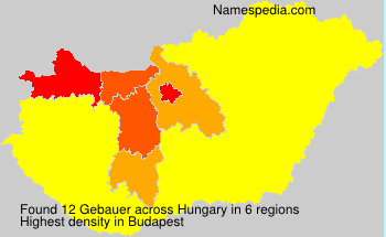 Surname Gebauer in Hungary
