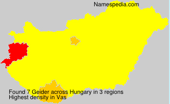 Surname Geider in Hungary
