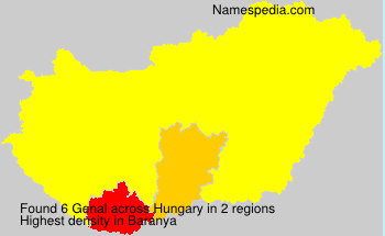 Familiennamen Genal - Hungary