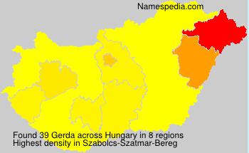 Surname Gerda in Hungary