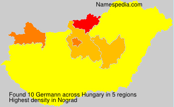 Surname Germann in Hungary