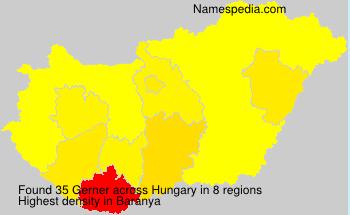 Surname Gerner in Hungary