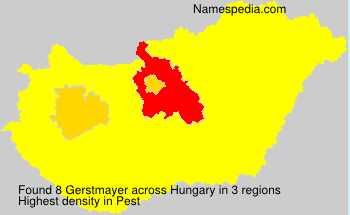 Surname Gerstmayer in Hungary