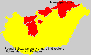 Surname Geza in Hungary