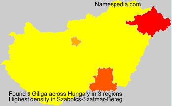 Surname Giliga in Hungary