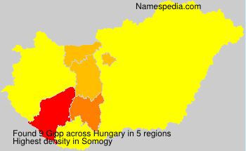 Surname Gipp in Hungary