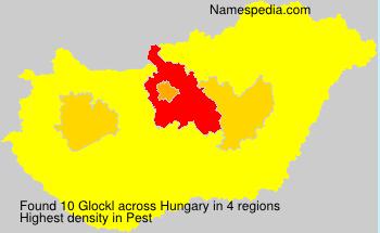 Familiennamen Glockl - Hungary